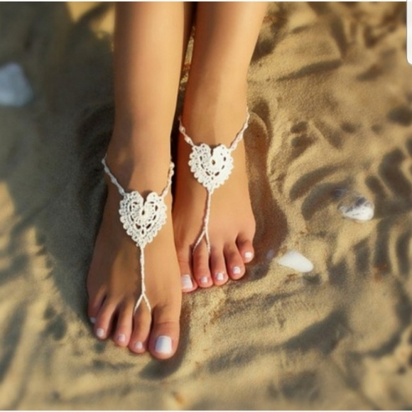 0a066e1381ab5 Vivid Rose Shop Accessories | Hot Pink Barefoot Sandals By Vivid ...